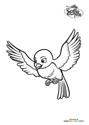 Bird Mia coloring page