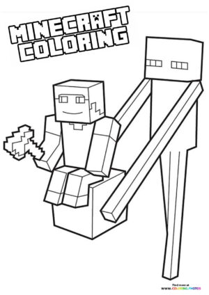 Minecraft - Carry your Steve coloring page
