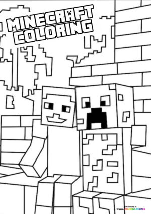 inecraft friends coloring page