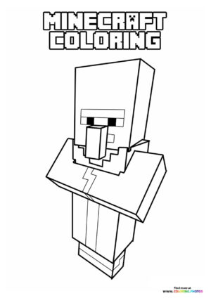 Minecraft Characters coloring page