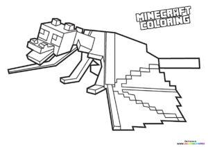 Minecraft Dragon coloring page