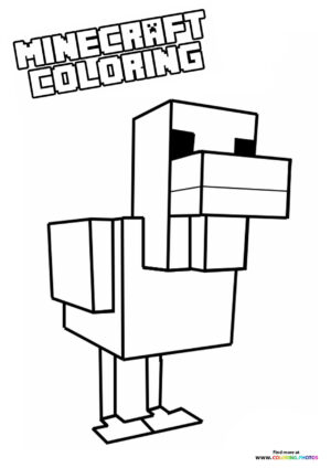 Minecraft animals - Duck coloring page