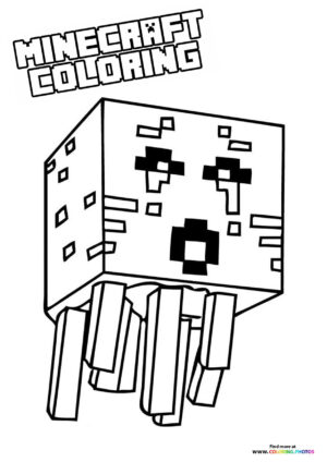 Minecraft Enemy coloring page
