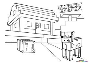 Minecraft Farm coloring page