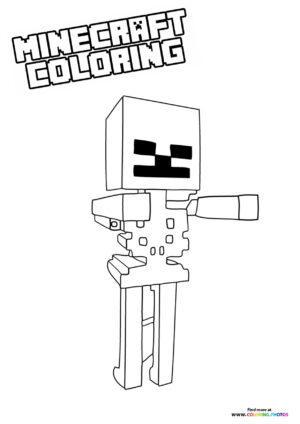 Minecraft Skeleton character coloring page