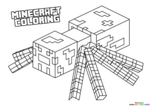 Minecraft Spired enemy coloring page