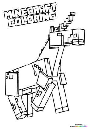 Minecraft Unicorn coloring page