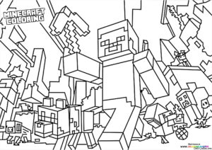 Minecraft Universe coloring page