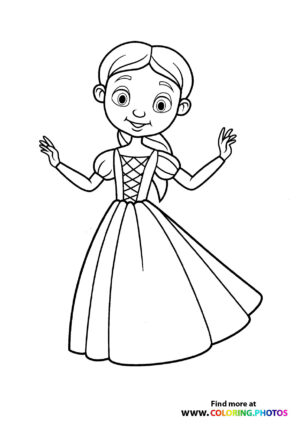 Princess in a dress