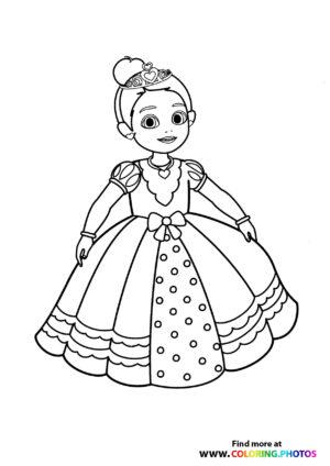 Princess in a fancy dress