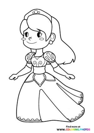 Princess in a hart dress