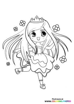 Princess with flowers