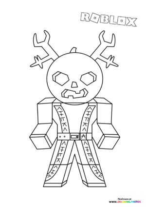 Pumpkin head character coloring page