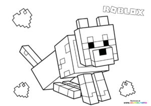 Roblox dog coloring page