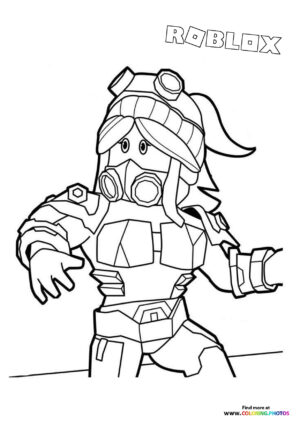 Girl character coloring page