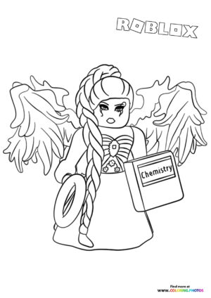 Girl with wings coloring page