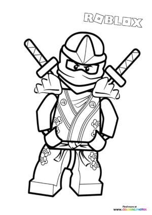 Ninja character coloring page