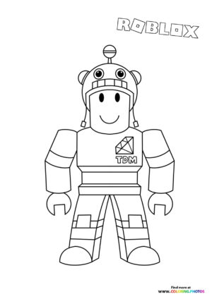 TDM character coloring page
