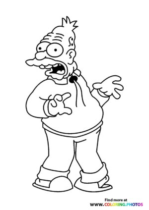 The Simpsons Grandpa coloring page