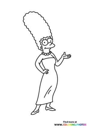 The Simpsons Marge coloring page