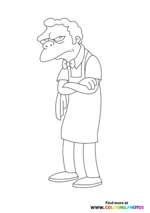 The Simpsons Moe coloring page