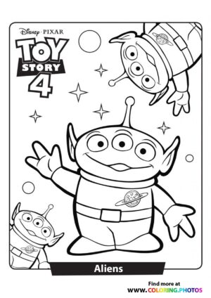 Toy Story Aliens Coloring Page