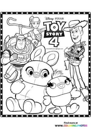 Toy Story all characters coloring page