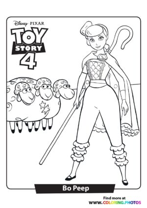 Toy Story Bo Peep Coloring Page