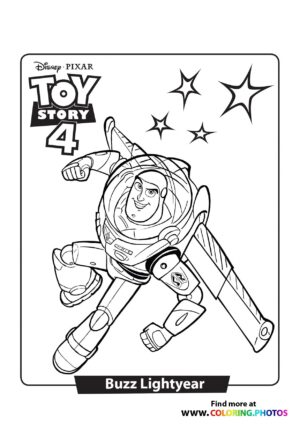 Toy Story Buzz Lightyear Coloring Page