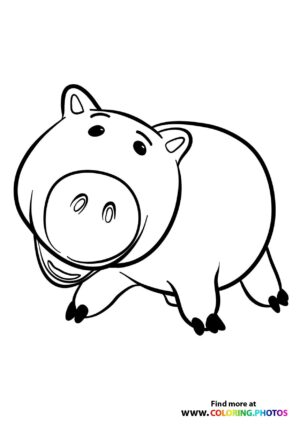 Toy Story Hamm Coloring Page
