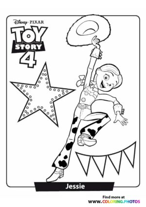 Toy Story Jessie Coloring Page