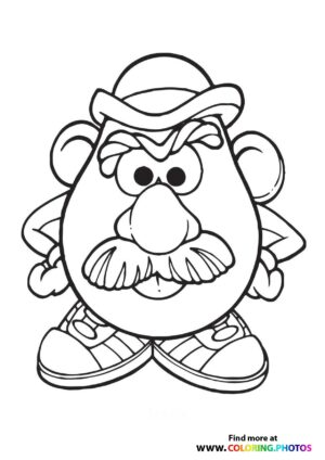 Toy Story Mr Potato Head Coloring Page