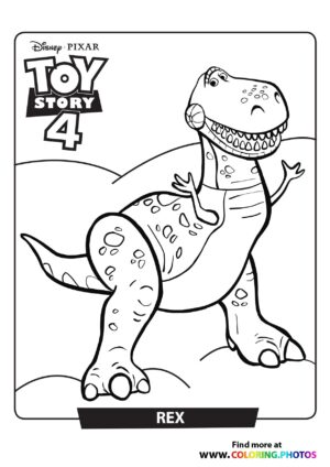 Toy Story Rex Coloring Page