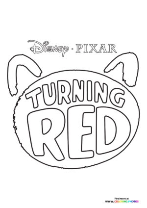 Turning red logo coloring page