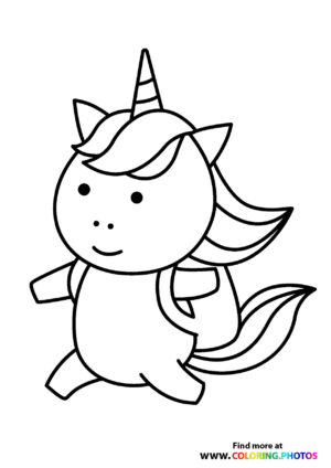 Unicorn with a backpack