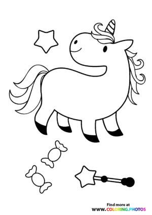 Unicorn with candys
