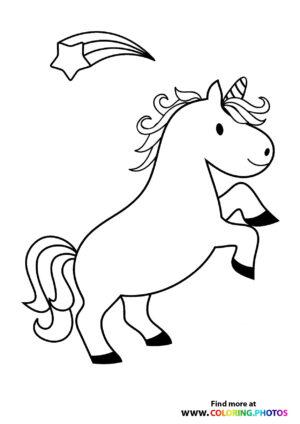 Unicorn with a star rainbow