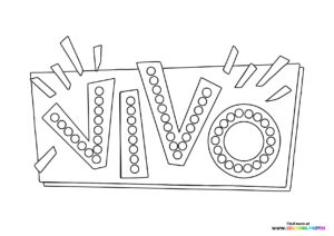 Netflix Vivo fancy logo coloring coloring page