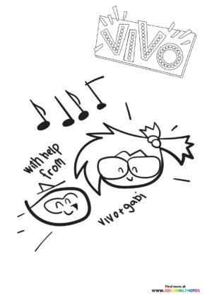 Vivo + Gabi doodles coloring page