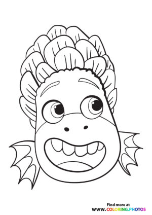 Monster Alberto portrait coloring page