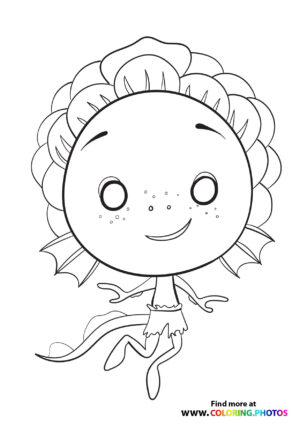 Cute little sea monster Luca coloring page